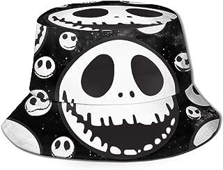 DUDBFGG Jack Halloween Skellington Reversible Bucket Hat Travel Sun Hat Outdoor