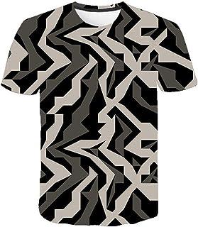 Camiseta para Hombre Moda para Hombre Deportes Fitness 23 Camuflaje Camisa 3DT de Manga Corta Camisa para camuflaje-TXA1076_S
