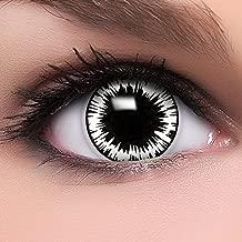 Colores Contacto lente 'Worm Hole' en blanco y negro & rojo, suave sin grosor, 2unidades con depósito y 10ml combinado Solución–Top de marca de calidad, cómoda. y perfecto de Halloween O Carnaval