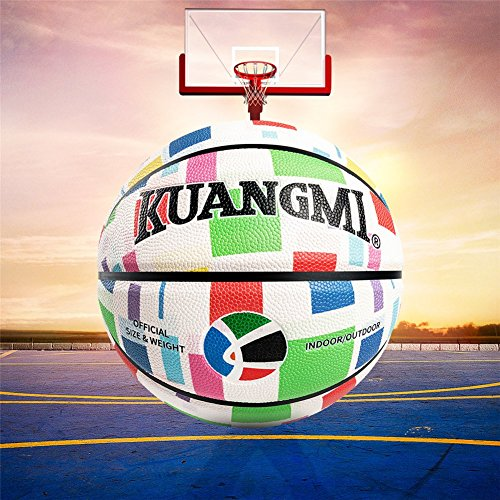 Great Deal! Genetic Los Angeles PU Material Basketball Ball Official Size 7 Indoor and Outdoor Male ...