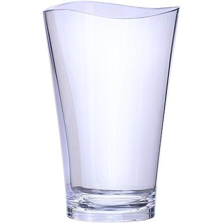 プラキラ(Plakira) ゆらぎ タンブラー グラス コップ クリア 透明 470ml 食洗機対応 耐熱100度 割れにくい アウトドア用 トライタン素材 日本製