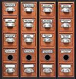 4 durchgehende Ordnerrücken Apotheke Schrank File Sticker Ordner Aufkleber Etiketten Deko 8058