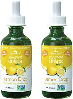 Wisdom Natural, SweetLeaf, Liquid Stevia, Lemon Drop, 2 fl oz (60 ml) - 2pcs