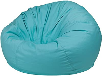 Colored Bean Bag Mint Green Cotton Fabric Upholstery Foam Padded Tufted Extra Large Comfortable Coffee TV Adult Living Room Bedroom Dorm Teens Pouf Bean Bag Chair eBook by Easy&FunDeals