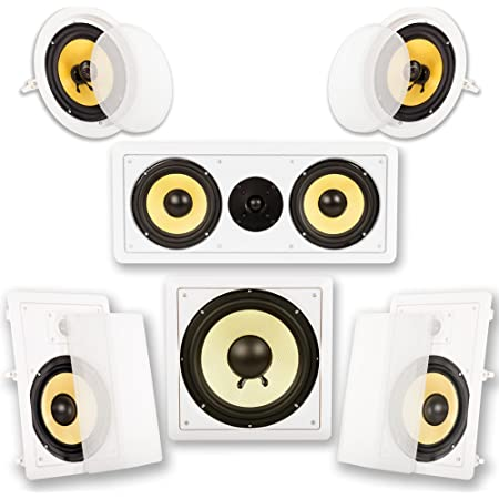 Acoustic Audio HD518 5.1 Home Theater Bocina System (White)