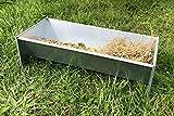 Zincato mangiatoia per capre, pecore e altro | 600 mm di larghezza | adatto per 1 - 2 animali |