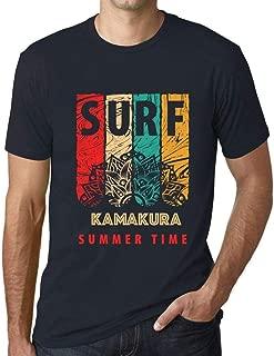 Men's Vintage Tee Shirt Graphic T Shirt Surf Summer Time Kamakura Navy