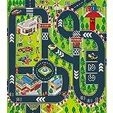 Vantiyaus Alfombra para niños para coches de juguete, alfombra de juego para niños de 27.5 x 31.5 pulgadas, ideal para jugar con coches y juguetes