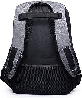 Novopus RucksackHerrn Taschen Segeltuch Rucksack Reißverschluss Geometrisch Blau/Hell Gray/Dunkelgrau:Dunkelgrau