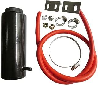 800ml Universal Radiator Coolant Tank Coolant Expansion Tank Cooling Catch Bottle Overflow Reservoir Aluminum Billet Black