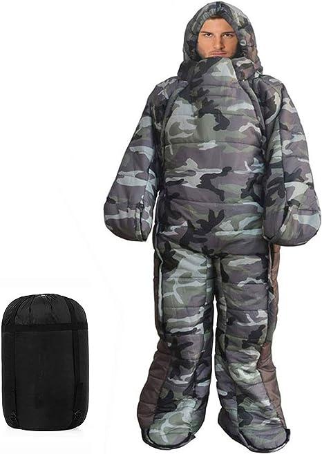 Gaorui Mummy Sleeping Bag Humanoid Sleeping Bag Outdoor Camping Sleeping Bag Winter Indoor Outdoor Portable Ultralight Warm Adult Windproof Sleeping Bag