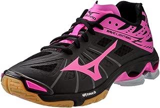 Mizuno Wave Lightning Z Women's Volleyball Shoes - Black & Pink (Women's 11.5)