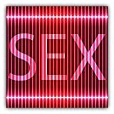 Zirni Sex Neon Signboard Sticker Decal Design 5' X 5'