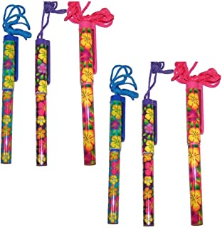 Fun Express Bright Hibiscus Pen On A Rope Plastic - 24 Pieces