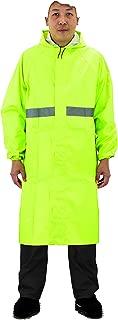 Sunglee Reflective Rain Coat Waterproof Jacket with Reflector Durable PVC Rain Cape for Men Rain Poncho