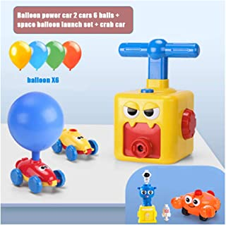 Portonss Air Powered Car Toys,Inertia Balloon Powered Car Toys Aerodynamics Inertial Power Kids Toys
