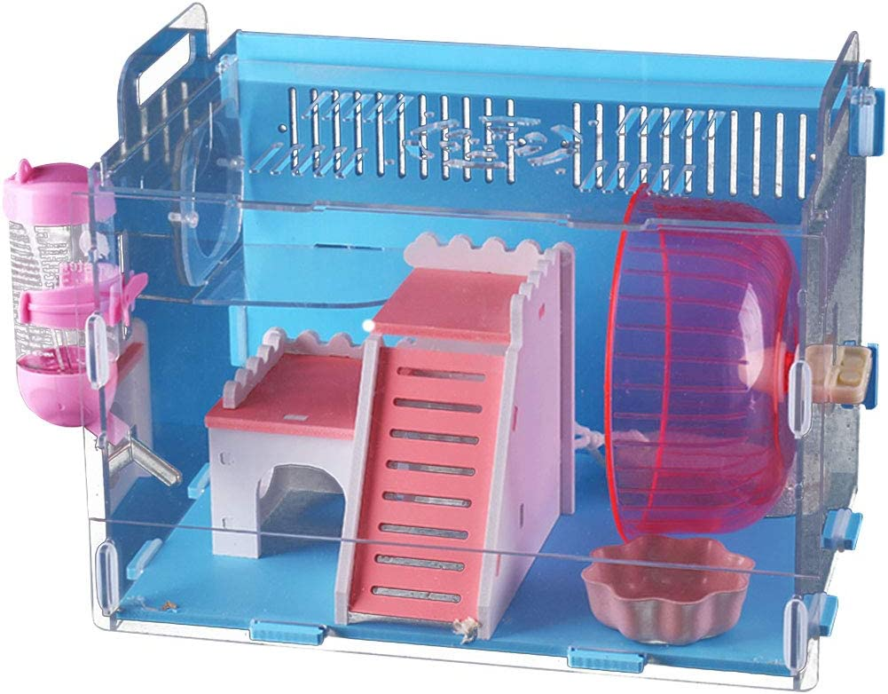 Soldering Kelendle Acrylic Hamster Sugar Glider Transparent Cage with Financial sales sale Hand