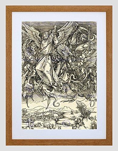 Wee Blue Coo Albrecht Durer Duitse Heilige Michael Vechten Draak Omlijst Muur Art Print