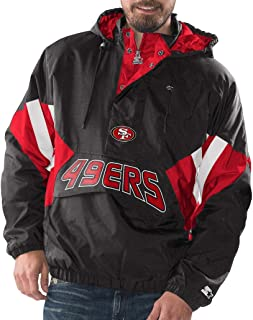 San Francisco 49ers Starter Vintage Enforcer Hooded Half-Zip Pullover Jacket