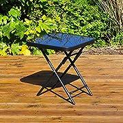 Kingfisher fsdt zusammenklappbar Getränke Seite Garten Terrasse Tisch-Schwarz