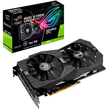 ASUS ROG STRIX NVIDIA GeForce GTX 1650 4G Gaming Grafikkarte (PCIe 3.0, 4GB DDR5 Speicher, HDMI, DVI, Displayport)