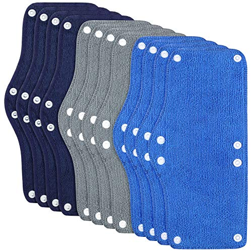 12 Pieces Hard Hat Sweatband Washable Hard Hat Liner Reusable Snap Sweat Band Liner Soft Hard Hat...