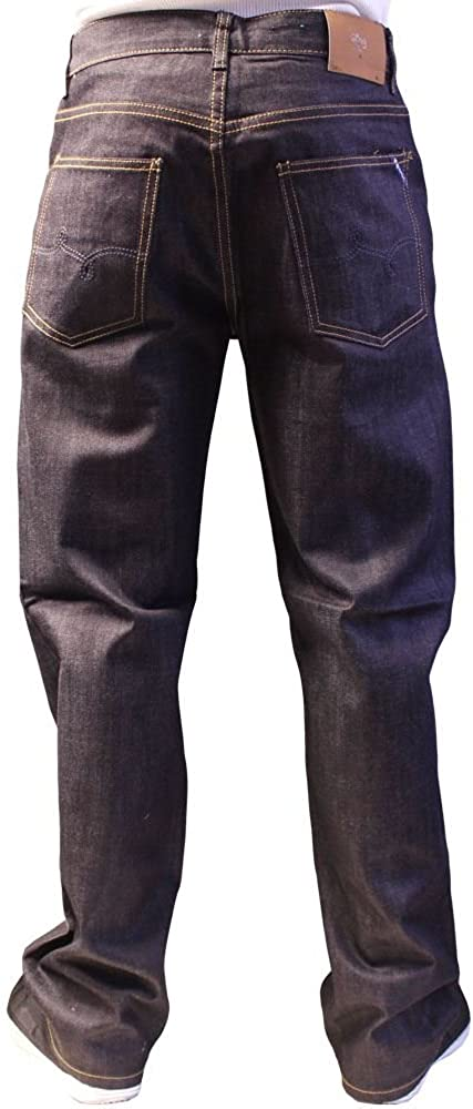 LRG Core Collection True Straight Denim Jeans Raw Indigo Blue