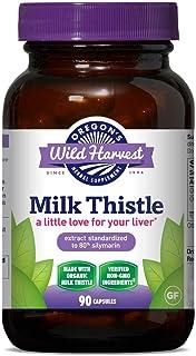 Oregon's Wild Harvest, Certified Organic Milk Thistle Capsules, 80% Silymarin, 1500 MGS, 90 Ct