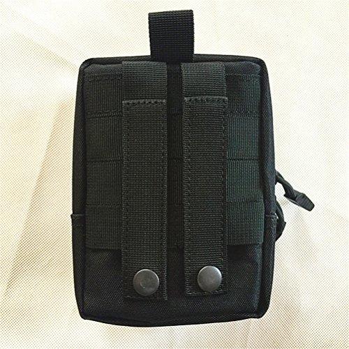 Qearly Outdoor Tactical Waist Bag First Aid Kit de premiers secours Noir
