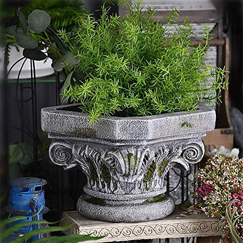 LXYZ Colonna Romana Vaso da Fiori Fioriera per Interni Ornamento da Giardino Esterno , Vaso da Esposizione Colonna Classica Ispirata