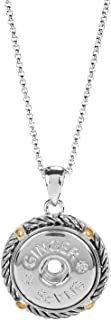 Mixed Metal Spur Necklace   Interchangeable, Customizable & Adjustable Snap Jewelry Collection   Button Charms for Necklaces, Bracelets & Rings   Standard Size   SN96-15