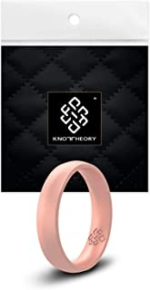 Knot Theory Silicone Wedding Rings for Men and Women - Comfort Fit Ultra Comfortable Premium Rubber Ring Bands in Gold, Silver, Copper, Black, Rose Gold - Husband Wife Gift