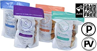 The Pagel - A Paleo Certified, Gluten-Free Bagel | 100% Grain Free, No Preservatives, and Taste Amazing! | 8 Pagels - Two Bags (Sesame)