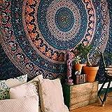 ジャション インド マンダラ 壁掛けタペストリー ヒッピー ボヘミアン 壁飾り 家 リビングルーム ベッドルーム 部屋 おしゃれ飾り 150X130CM