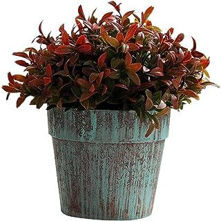 PAKUES-QO Plantes Artificielles Plantes Artificielles Mini Herbe en Pot pour La Décoration Intérieure De Fête À La Maison ...