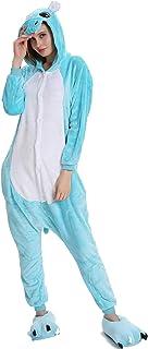 23a61a50 Kauson Tigre Kigurumi Flanela Unicornio Pijamas la Ropa de Noche del Traje  Onesie 3D Novedad Mono