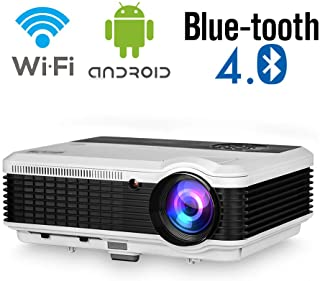Wireless Bluetooth LED Projector 4600 lumens HD HDMI Support Airplay 1080P WiFi LCD Android Bluetooth Home Cinema Outdoor ...