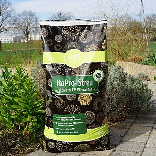 eM-Chiemgau- RoPro-Streu – Pflanzenkohle im Garten und im Tierbereich 45 l Sack