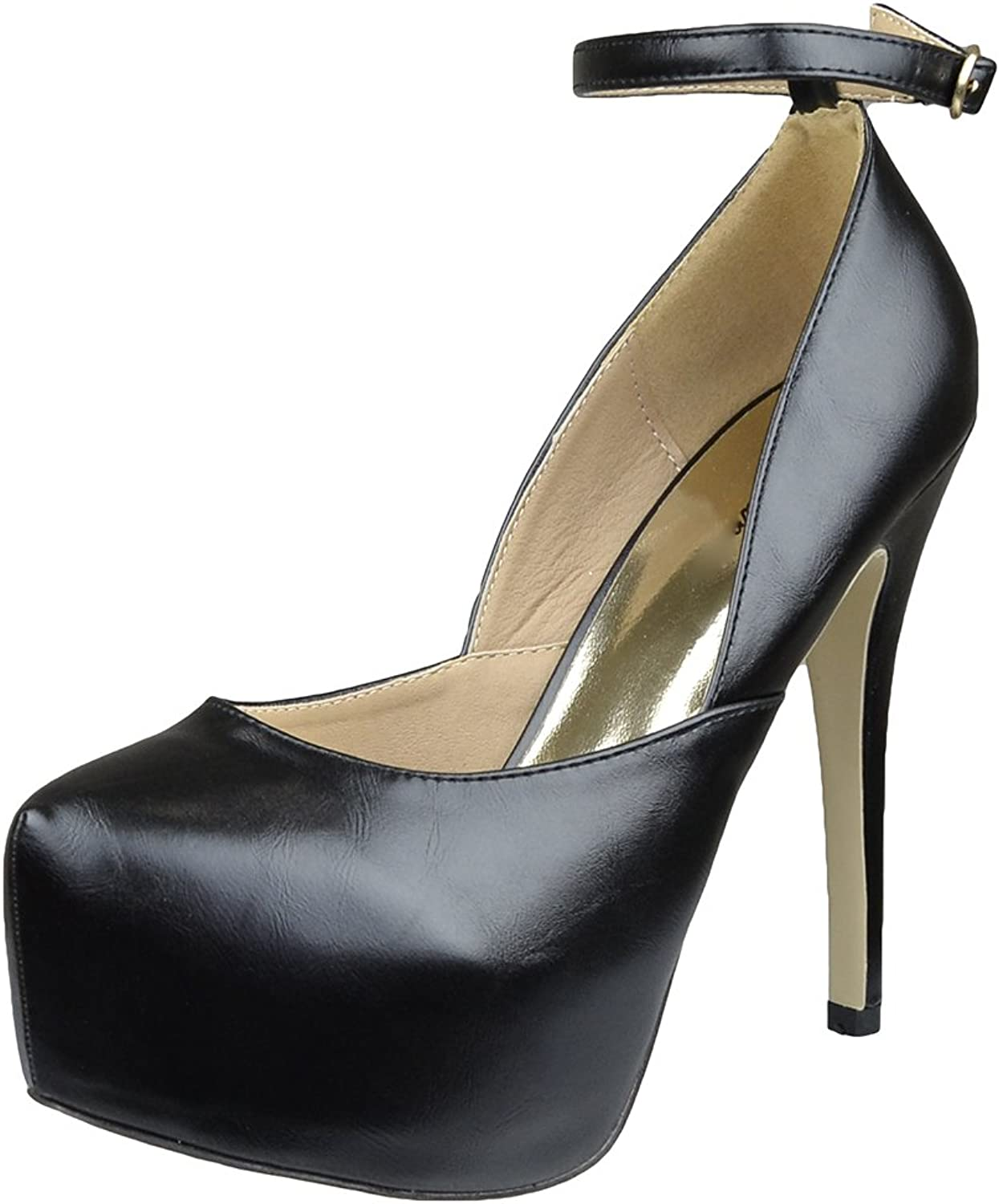 DS By KSC Womens Platform shoes Sexy Scoop Vamp High Heel Dress shoes Black