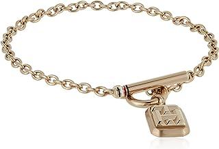 TOMMY HILFIGER WOMEN'S ROSE GOLD LOGO CHARM BRACELET - 2780437