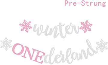 Winter Onederland Party Decorations Banner Snowflake First Birthday Party Supplies Decorations Winter 1st Themed Baby Girl photo props