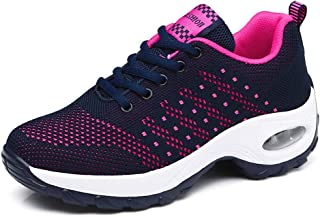 Womens Sneakers Walking Shoes Slip on Knit Breathable Lightweight Fashion Casual Walking Athletic Platforms