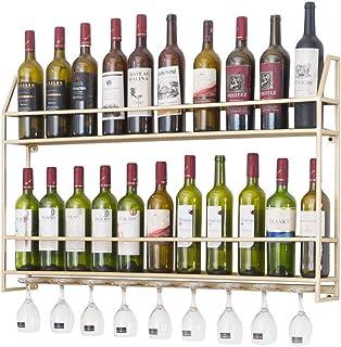 ZHXYY Organiser la Cuisine Support à vin Mural en métal Support de Rangement pour Bouteilles de vin de Style Nordique Supp...