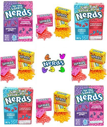 Nerds Gift Set - 2 x Strawberry & Grape - 2 x Surf n Turf - 9 x Mini Packs