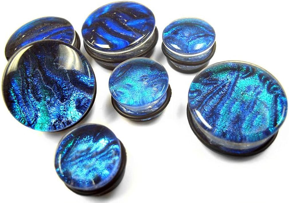 Urban Body Jewelry Pair of Garden Glass Plugs 5/8