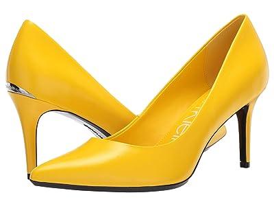 Calvin Klein Gayle Nappa (Scuba Yellow) High Heels