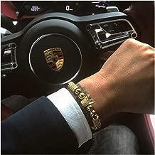 gold crown bracelet mens