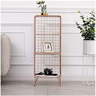 Strong Sturdy bookshelf Floor-standing wrought iron bookshelf, bedroom shelf, multi-layer storage rack, decorative display...