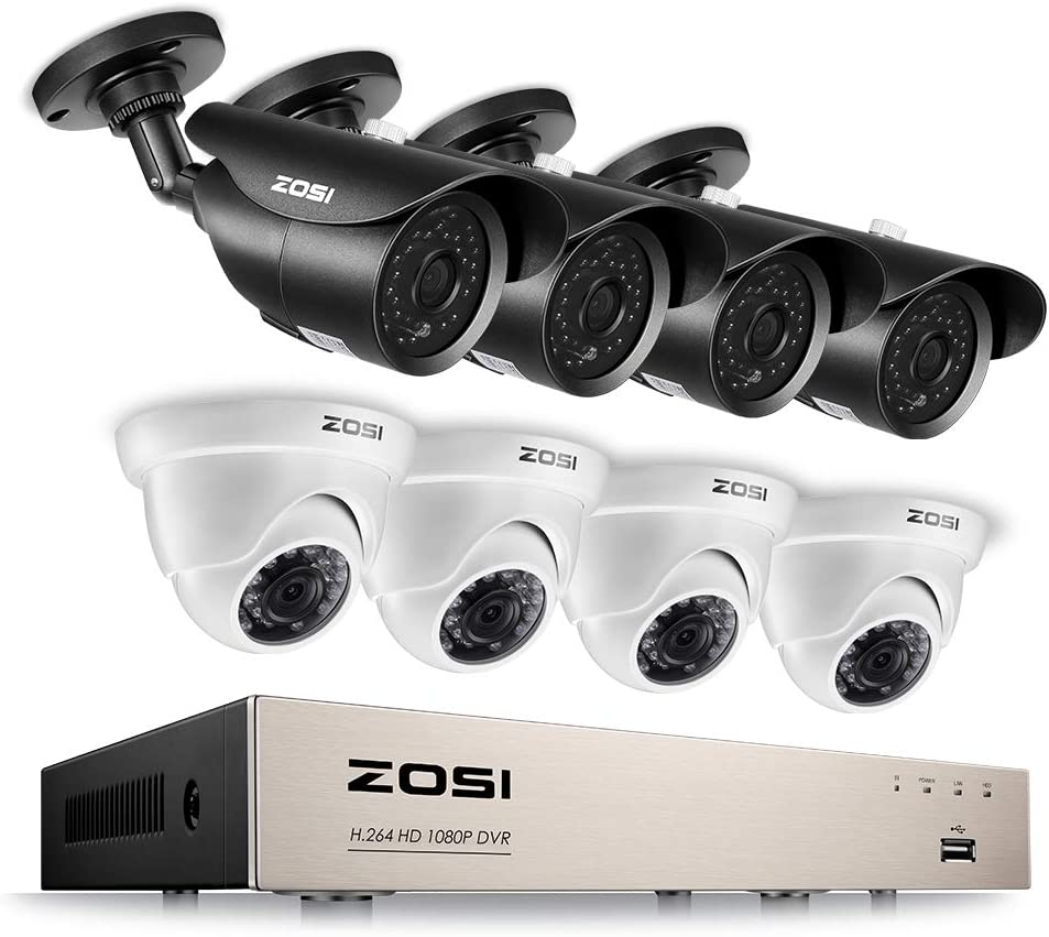 ZOSI 8CH Bargain 1080P Ranking TOP17 Security Camera Video DV HD System 8Channel