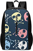 Large Laptop Backpack, Waterproof Business Carry On Backpack for Men Women, College School Durable Computer Bookbag,Water Bottle Pockets Daypack - Awesome_Candy_Jolly_Roger_Comic